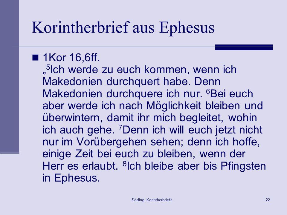 Korintherbrief aus Ephesus