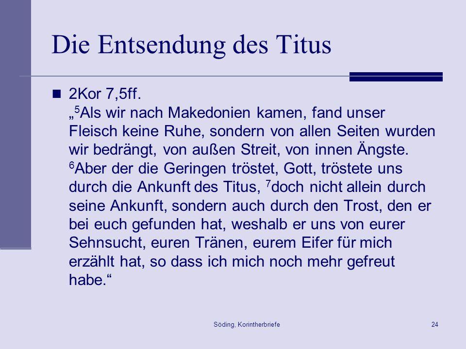 Die Entsendung des Titus