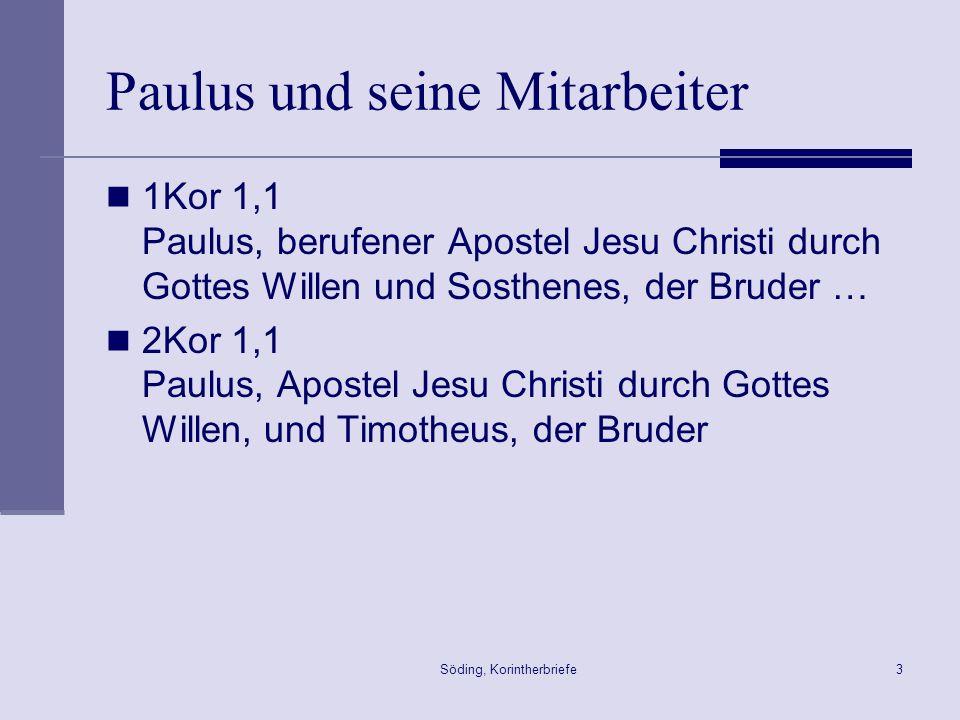 Paulus und seine Mitarbeiter