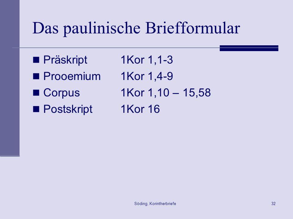Das paulinische Briefformular