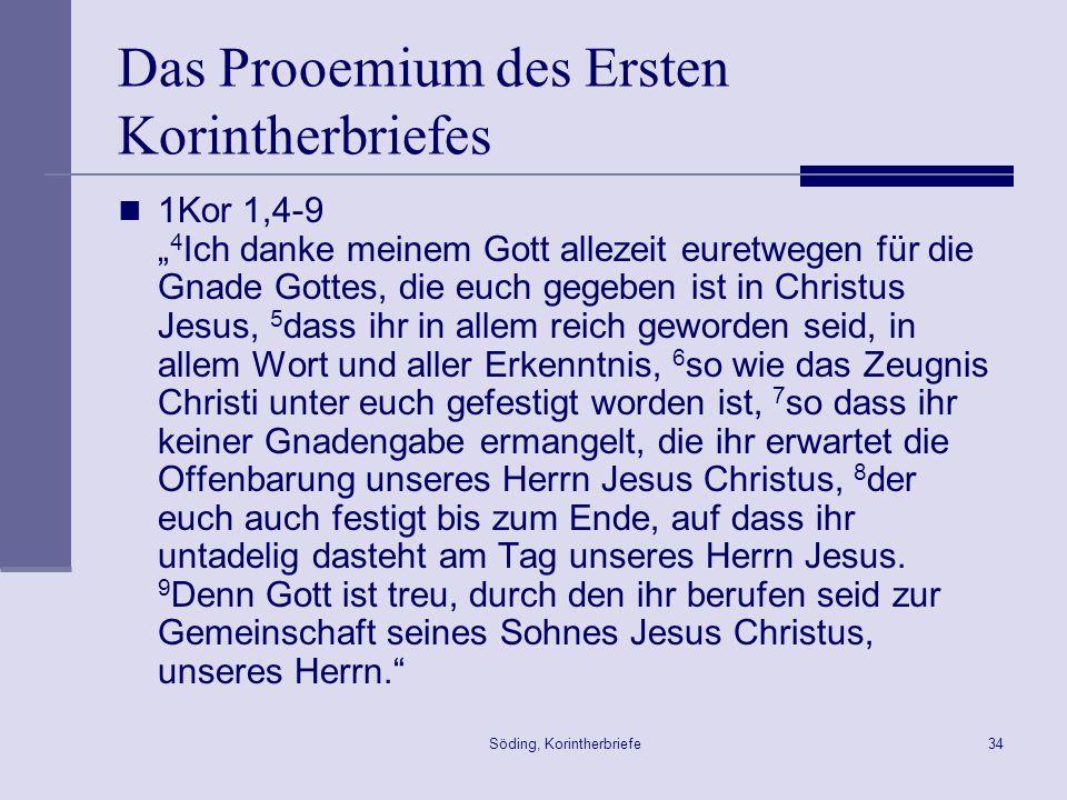 Das Prooemium des Ersten Korintherbriefes