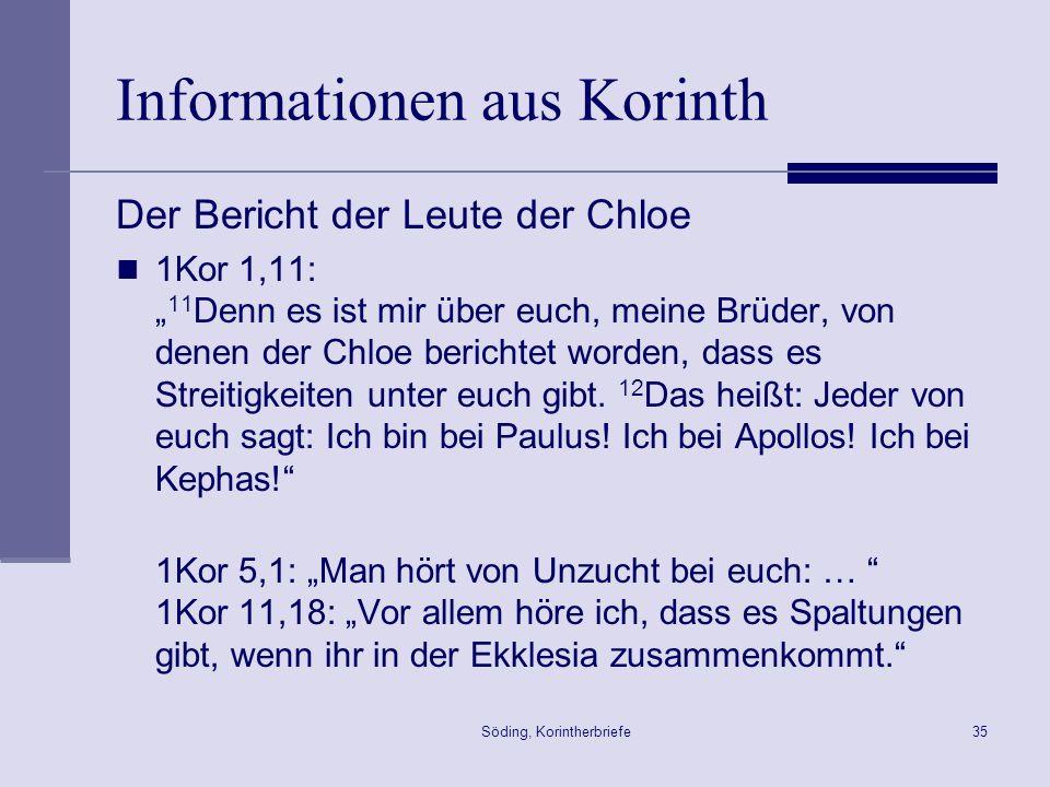 Informationen aus Korinth