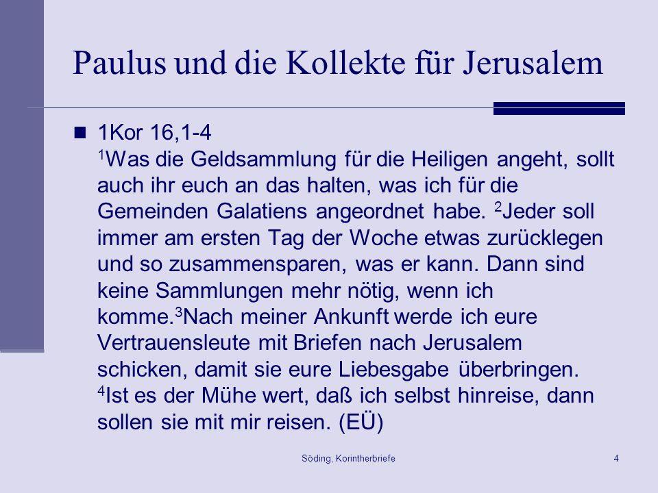 Paulus und die Kollekte für Jerusalem