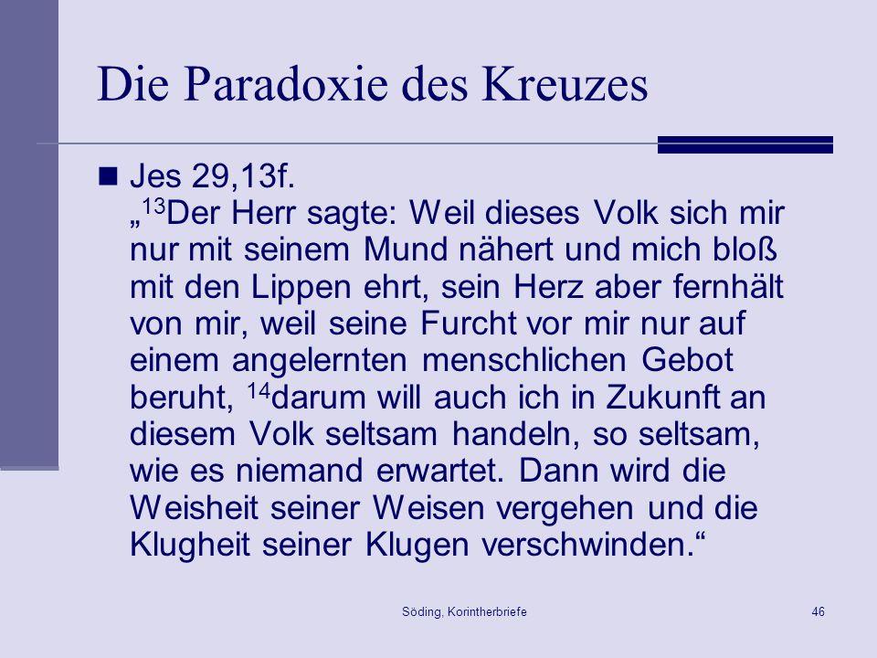 Die Paradoxie des Kreuzes