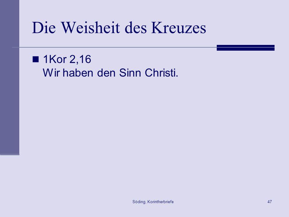 Die Weisheit des Kreuzes