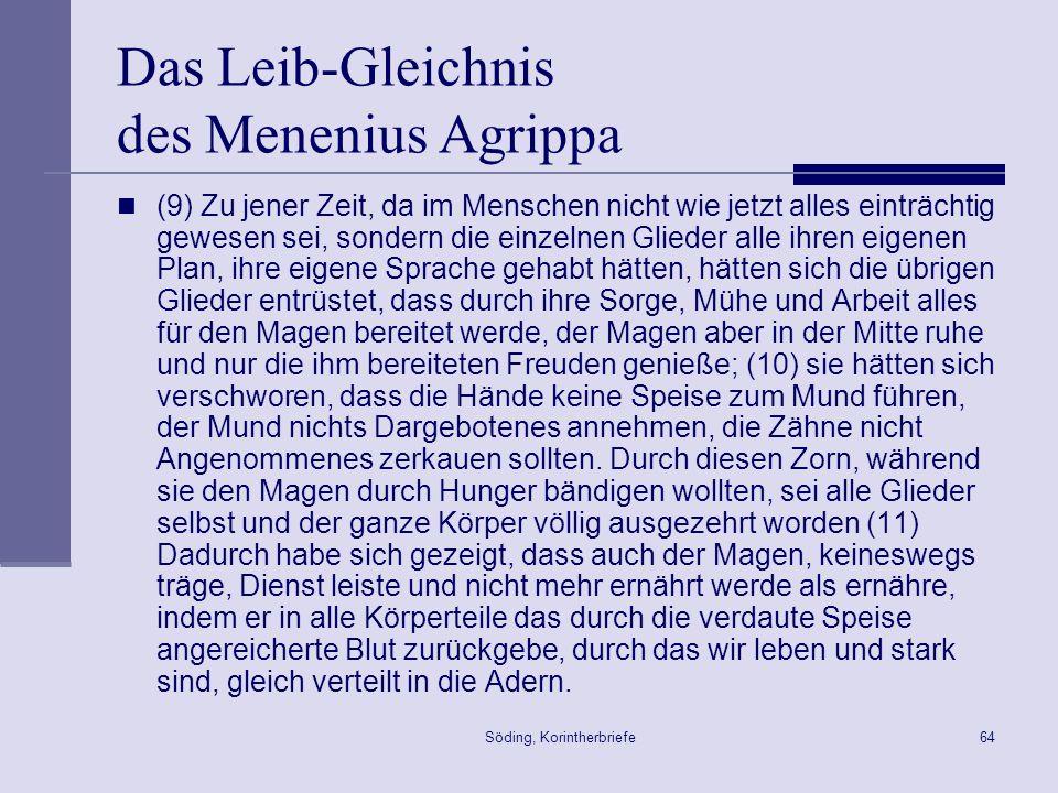 Das Leib-Gleichnis des Menenius Agrippa