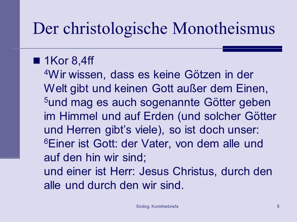 Der christologische Monotheismus