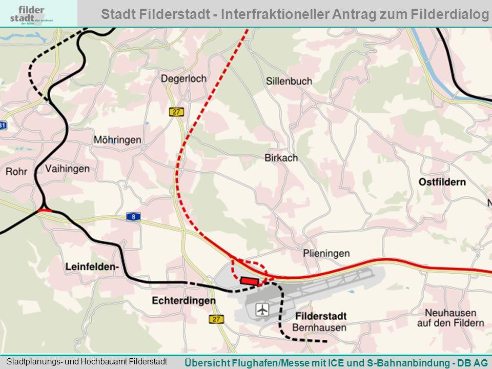 Übersicht Flughafen/Messe mit ICE und S-Bahnanbindung - DB AG