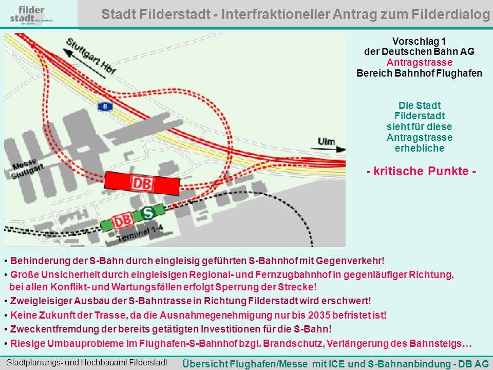 Bereich Bahnhof Flughafen