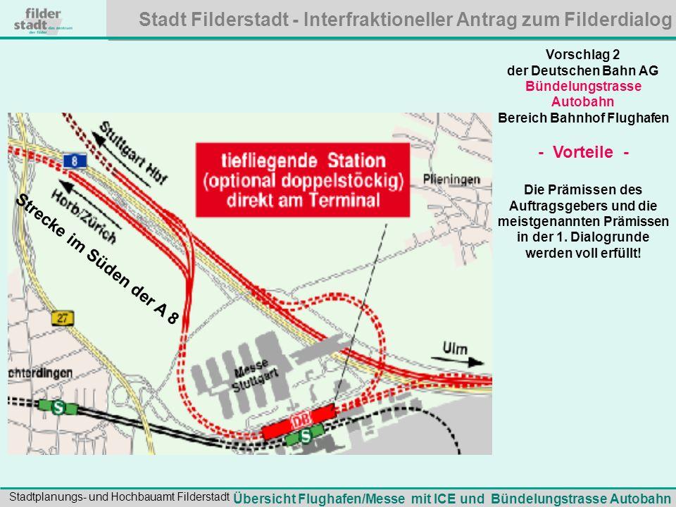 - Vorteile - Strecke im Süden der A 8 Vorschlag 2