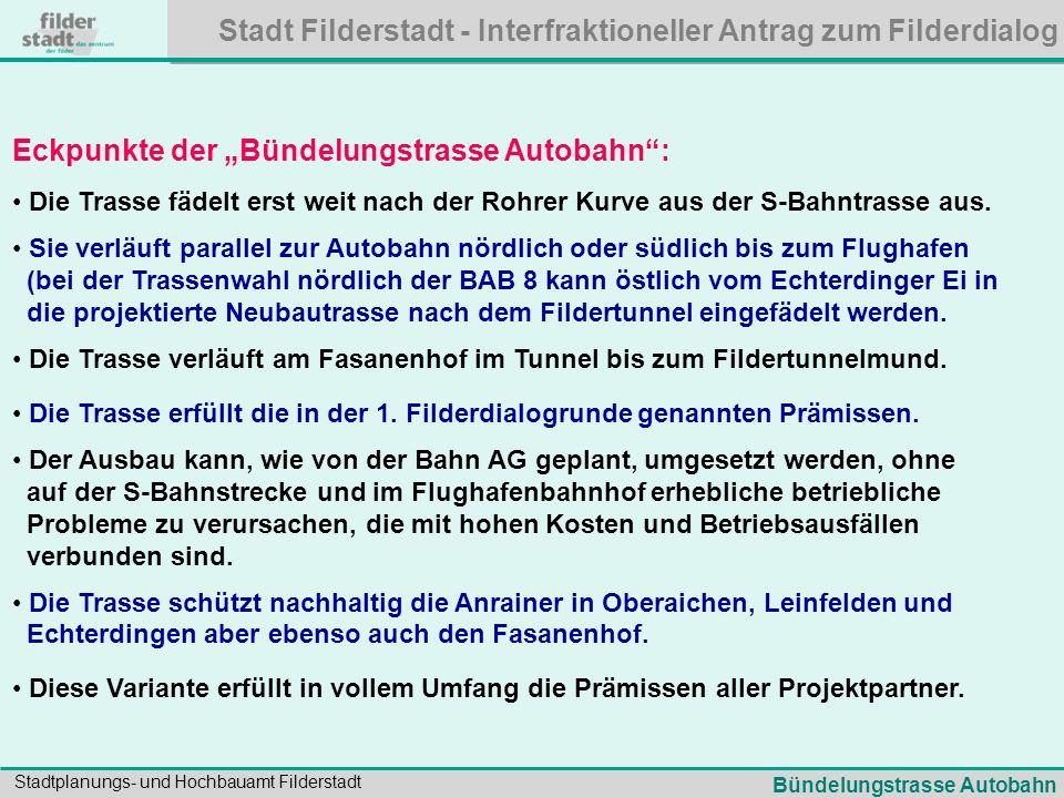 """Eckpunkte der """"Bündelungstrasse Autobahn :"""