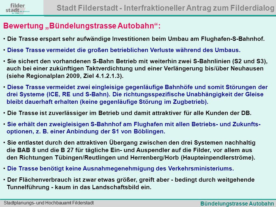 """Bewertung """"Bündelungstrasse Autobahn :"""