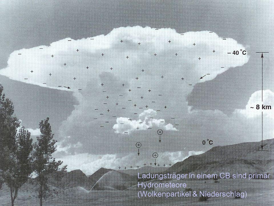 Foto Mexiko Ladungsträger in einem CB sind primär Hydrometeore (Wolkenpartikel & Niederschlag)