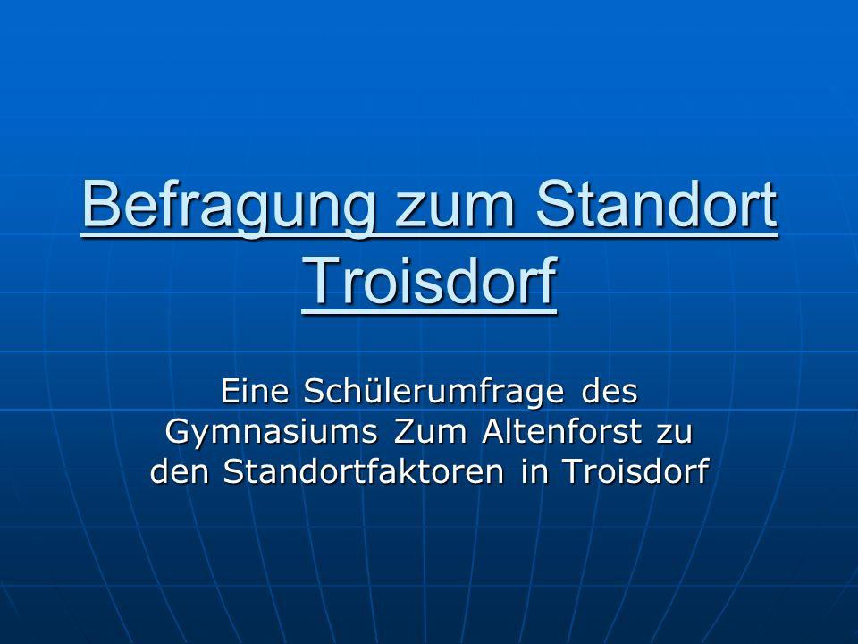 Befragung zum Standort Troisdorf