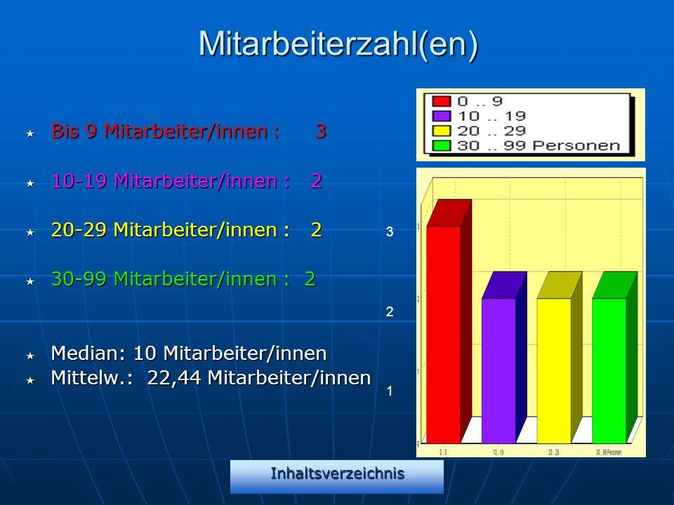 Mitarbeiterzahl(en) Bis 9 Mitarbeiter/innen : 3