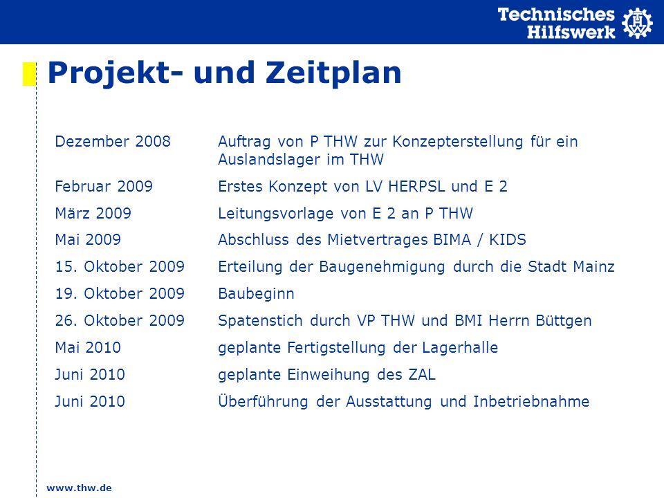 Projekt- und Zeitplan Dezember 2008 Auftrag von P THW zur Konzepterstellung für ein Auslandslager im THW.