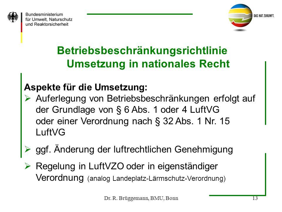 Betriebsbeschränkungsrichtlinie Umsetzung in nationales Recht