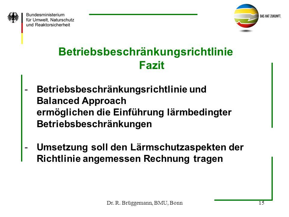 Betriebsbeschränkungsrichtlinie Fazit