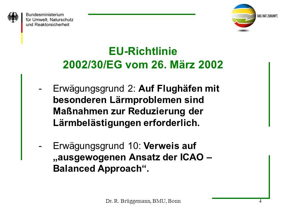 Dr. R. Brüggemann, BMU, Bonn