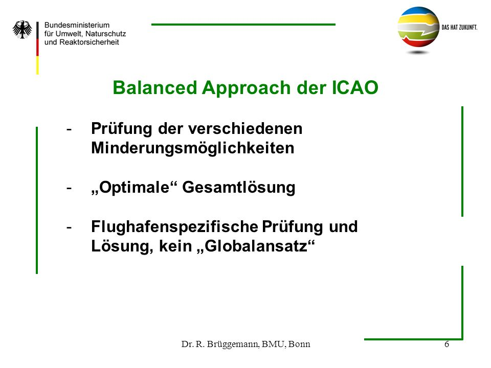 Balanced Approach der ICAO