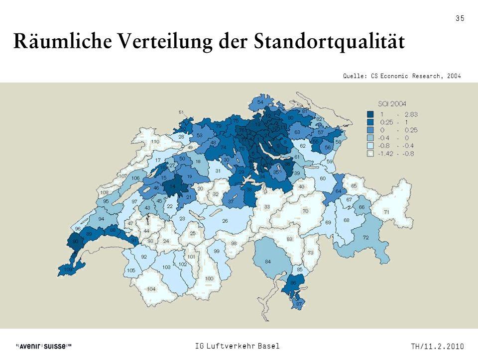 Räumliche Verteilung der Standortqualität