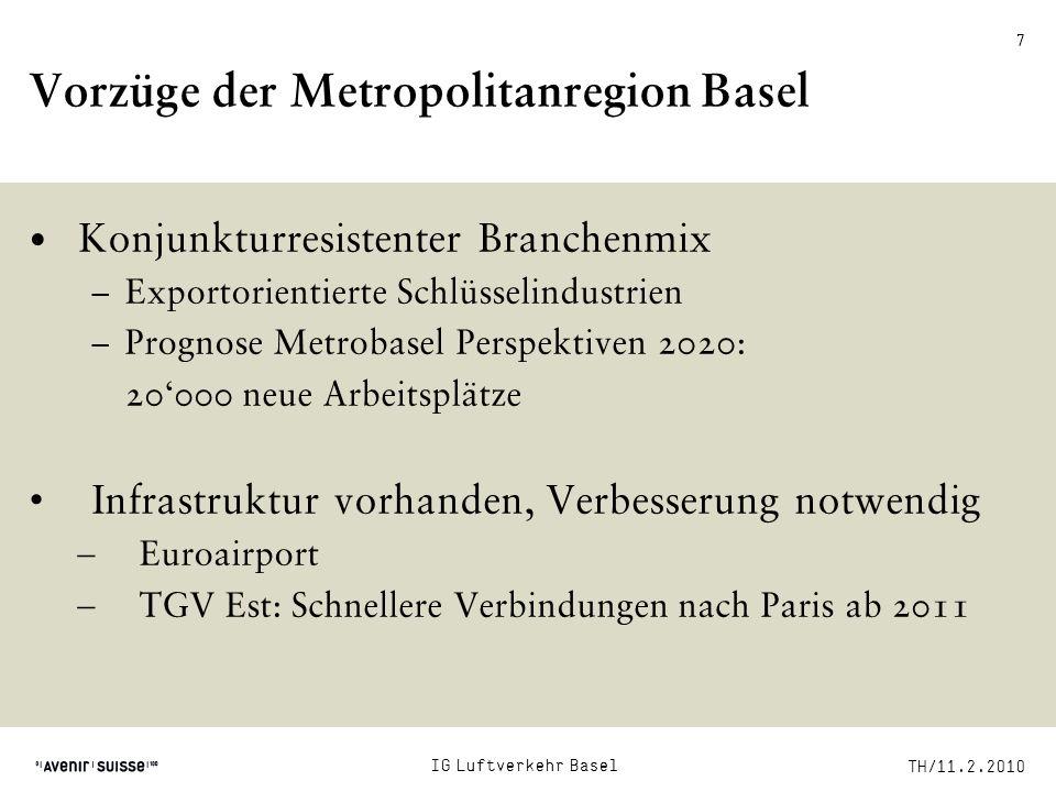 Vorzüge der Metropolitanregion Basel