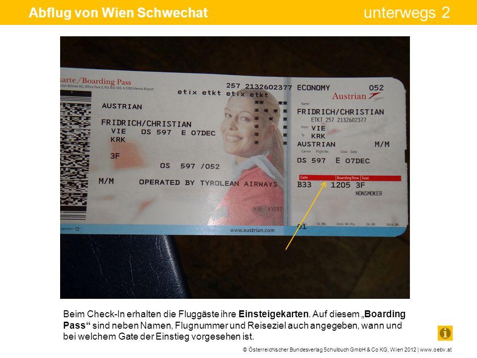 Abflug von Wien Schwechat