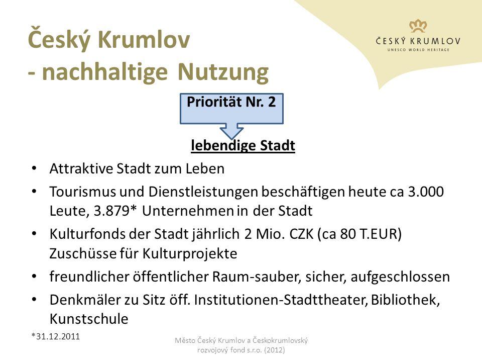 Český Krumlov - nachhaltige Nutzung