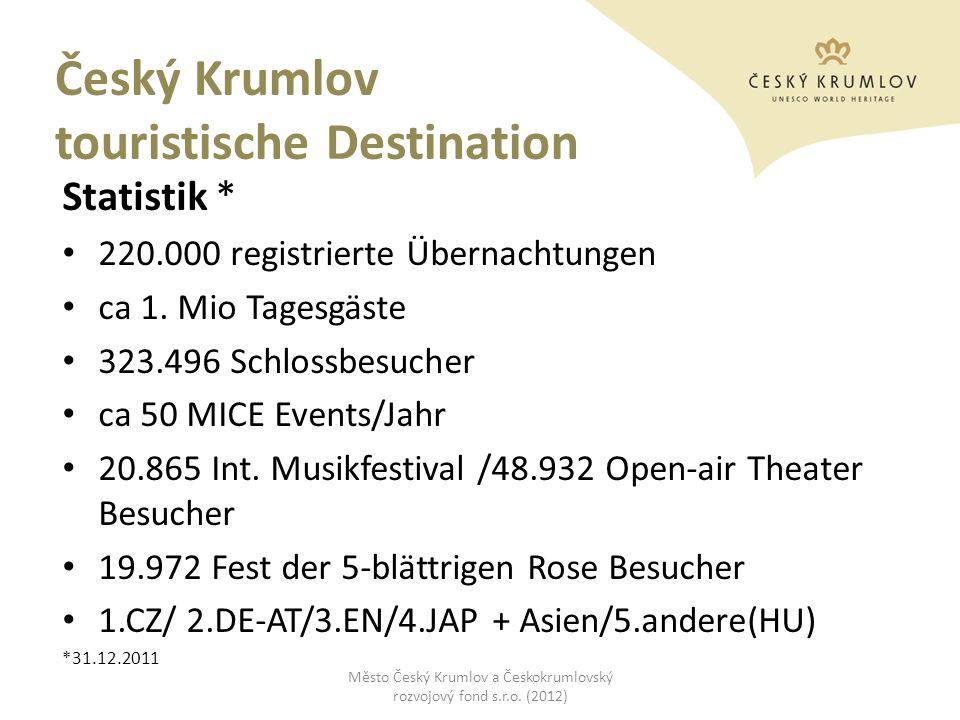 Český Krumlov touristische Destination