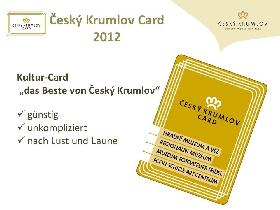"""Český Krumlov Card 2012 Kultur-Card """"das Beste von Český Krumlov"""