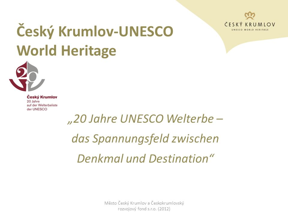 Český Krumlov-UNESCO World Heritage