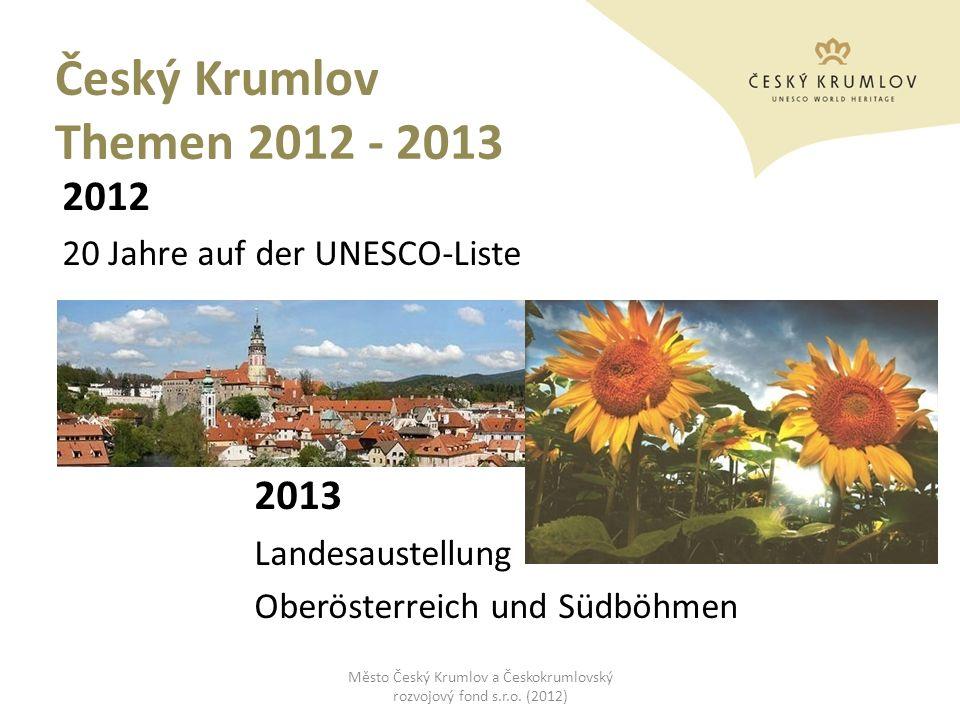 Město Český Krumlov a Českokrumlovský rozvojový fond s.r.o. (2012)