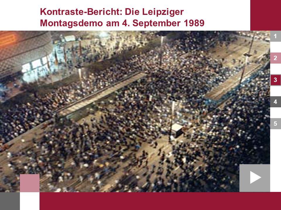 Kontraste-Bericht: Die Leipziger Montagsdemo am 4. September 1989