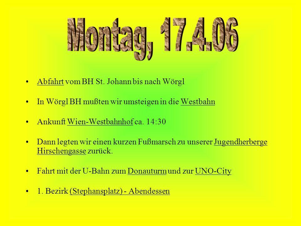 Montag, 17.4.06 Abfahrt vom BH St. Johann bis nach Wörgl