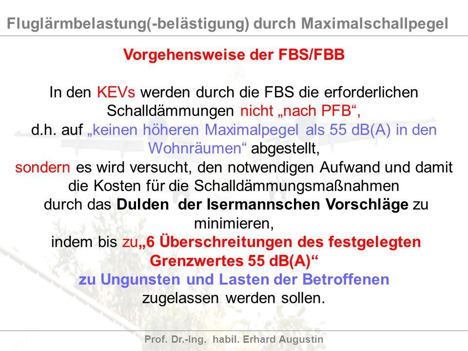 Vorgehensweise der FBS/FBB