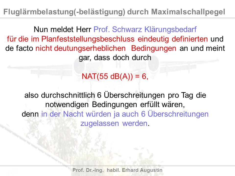 Nun meldet Herr Prof. Schwarz Klärungsbedarf