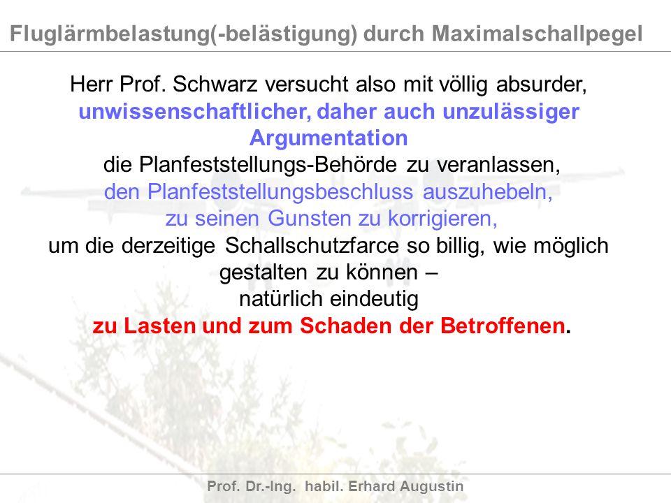 Herr Prof. Schwarz versucht also mit völlig absurder,