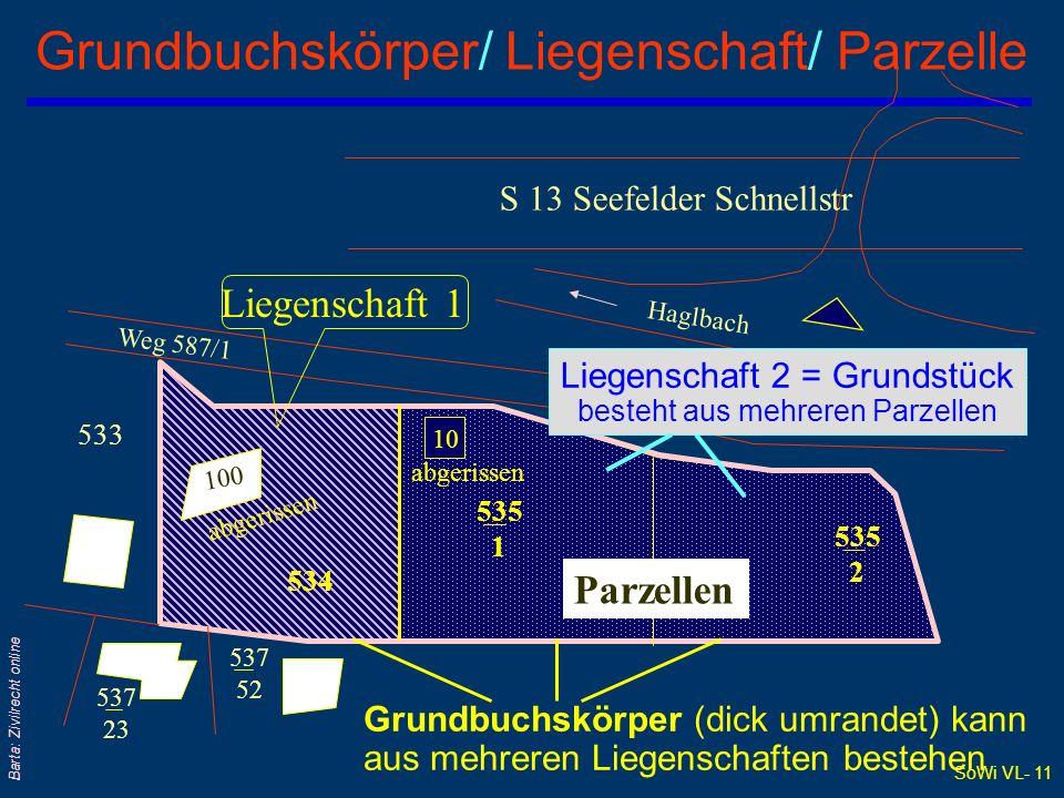 Grundbuchskörper/ Liegenschaft/ Parzelle