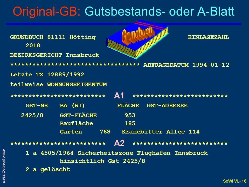 Original-GB: Gutsbestands- oder A-Blatt