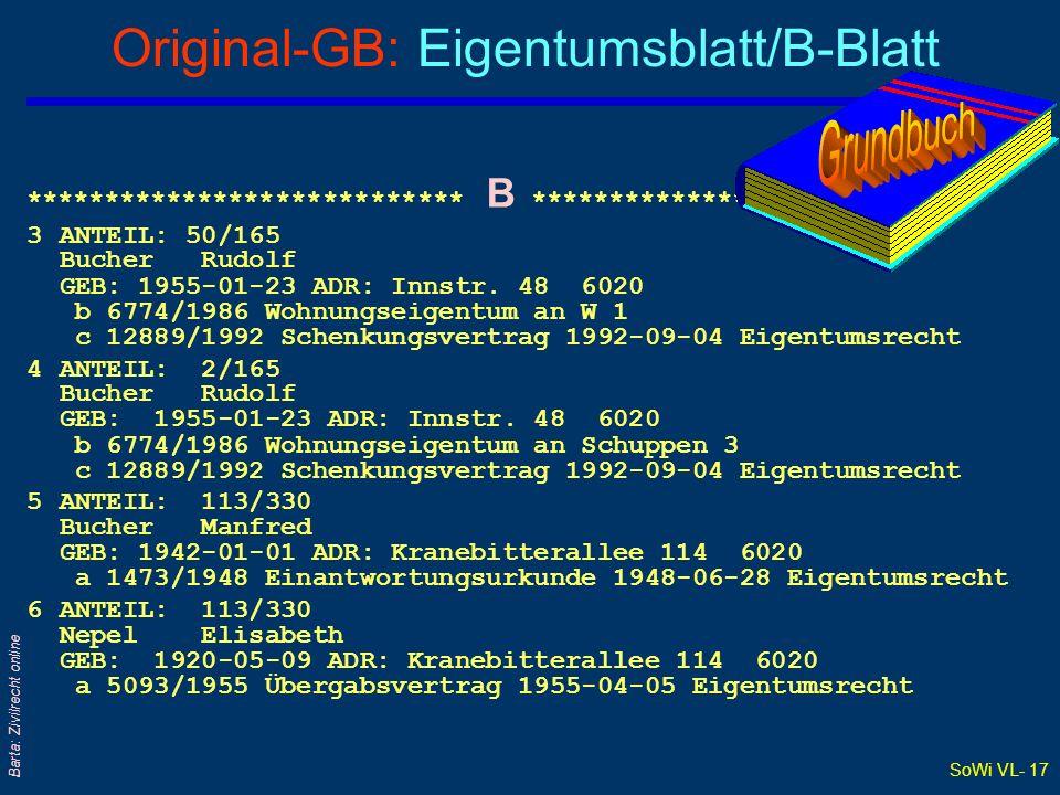 Original-GB: Eigentumsblatt/B-Blatt