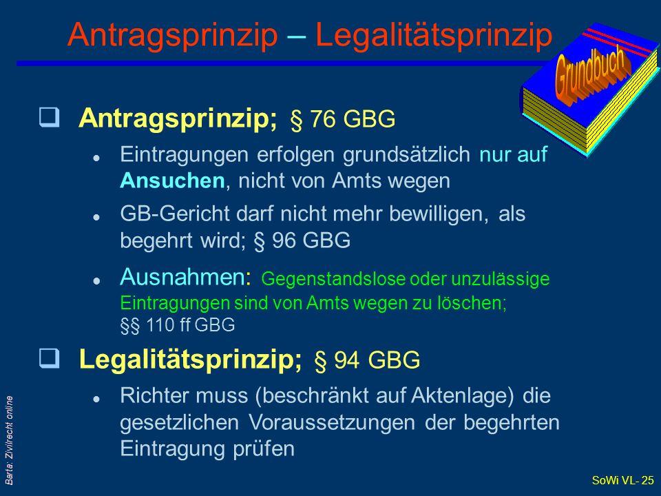 Antragsprinzip – Legalitätsprinzip