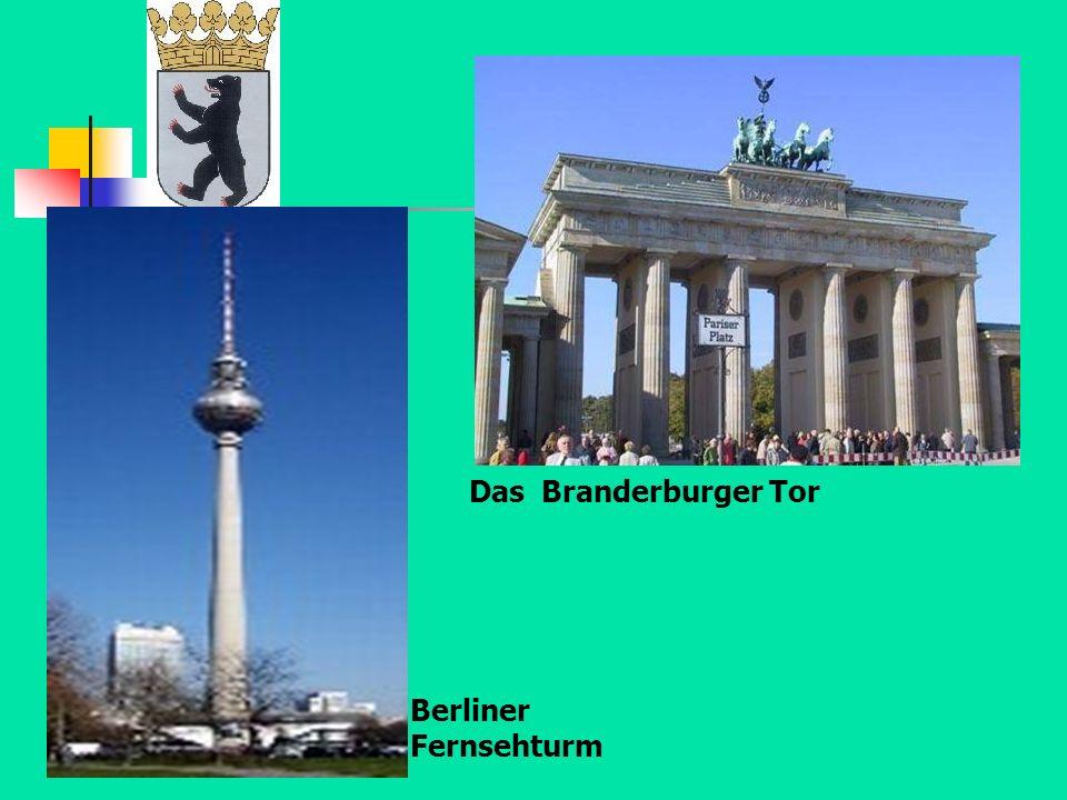 Das Branderburger Tor Berliner Fernsehturm
