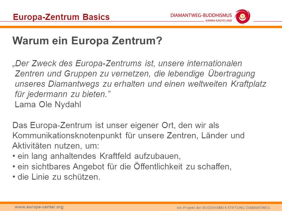 Warum ein Europa Zentrum