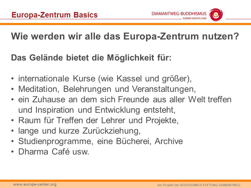 Wie werden wir alle das Europa-Zentrum nutzen