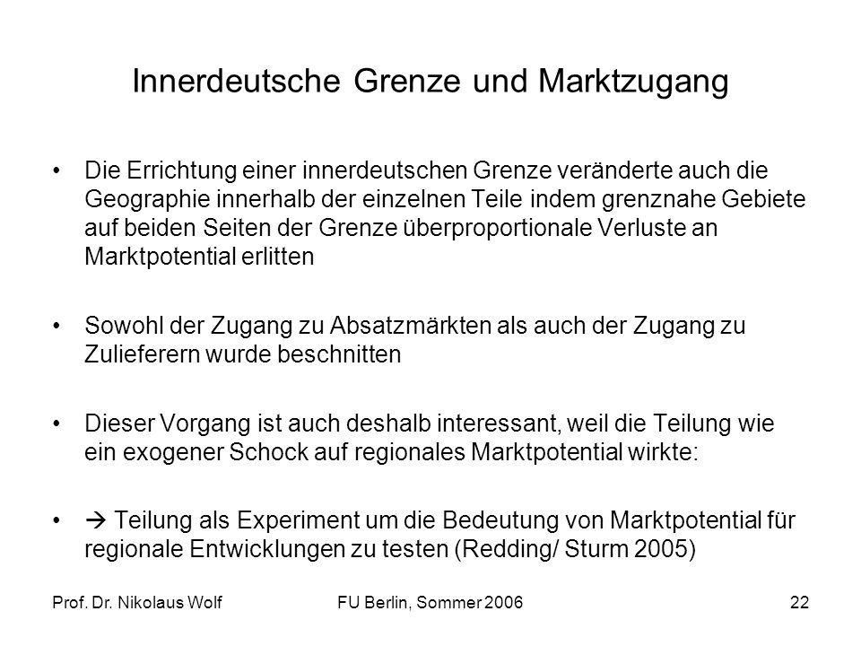 Innerdeutsche Grenze und Marktzugang