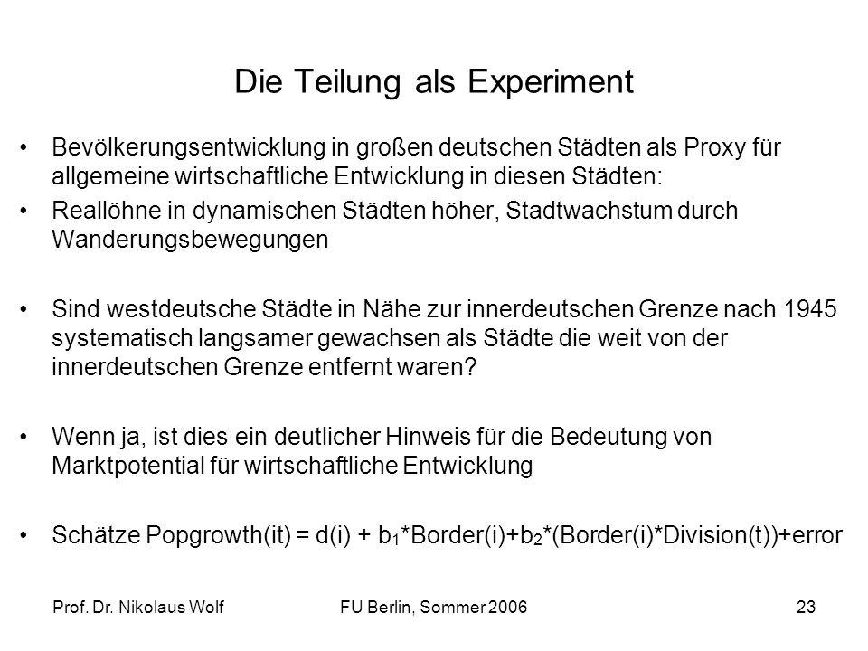 Die Teilung als Experiment