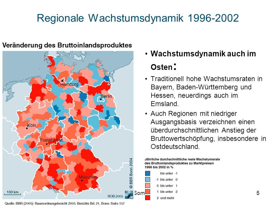Regionale Wachstumsdynamik 1996-2002