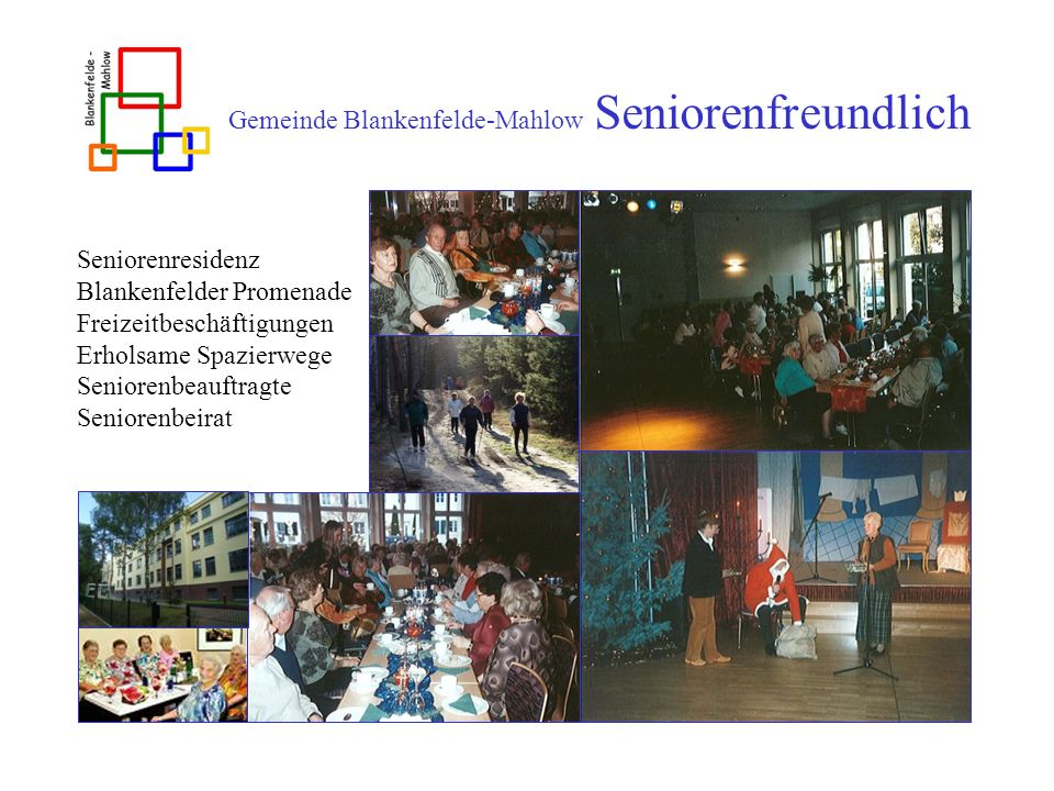 Gemeinde Blankenfelde-Mahlow Seniorenfreundlich