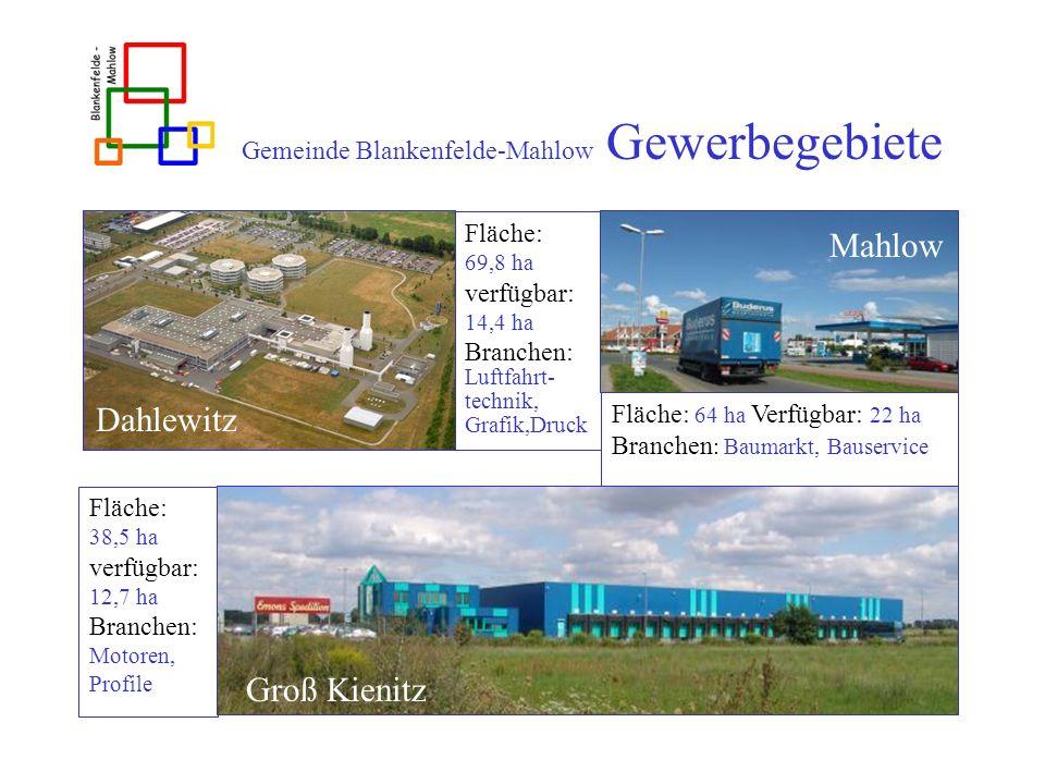 Gemeinde Blankenfelde-Mahlow Gewerbegebiete