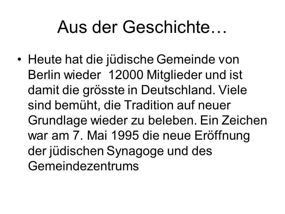 Aus der Geschichte…